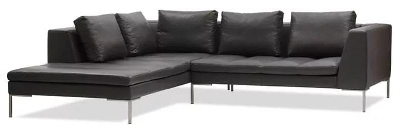 L shape leather sofa furniture