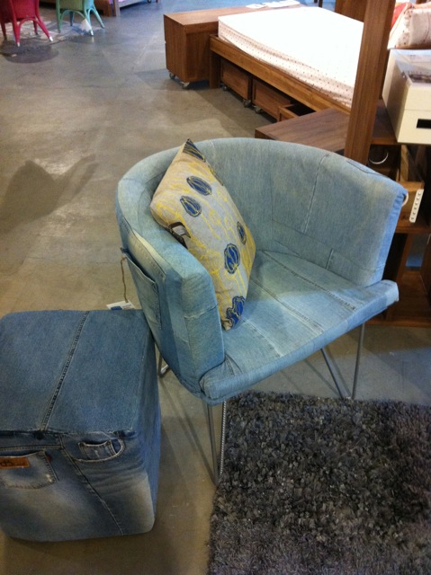 recycle jeans sofa seating