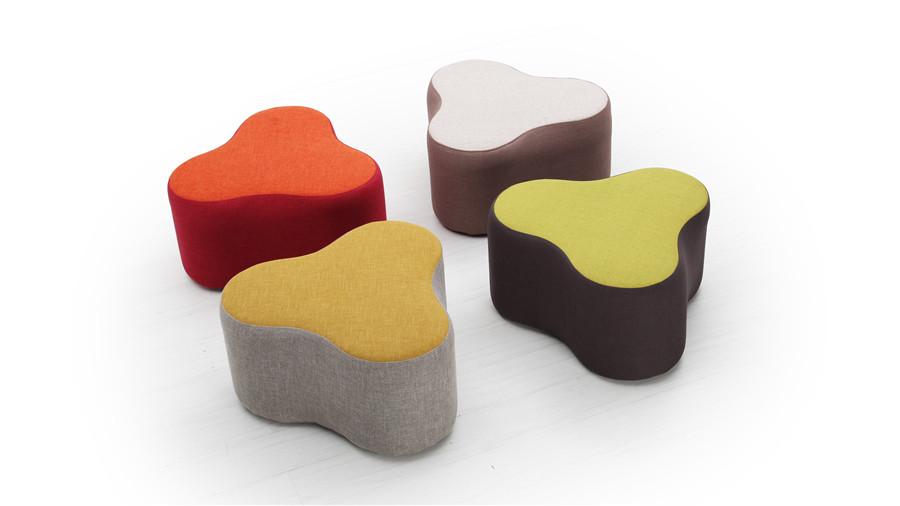 colour shaped ottoman