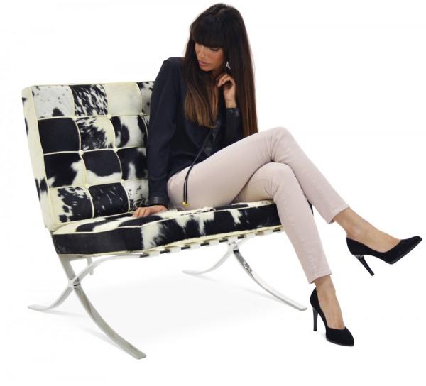 Cow hide Barcelona chair