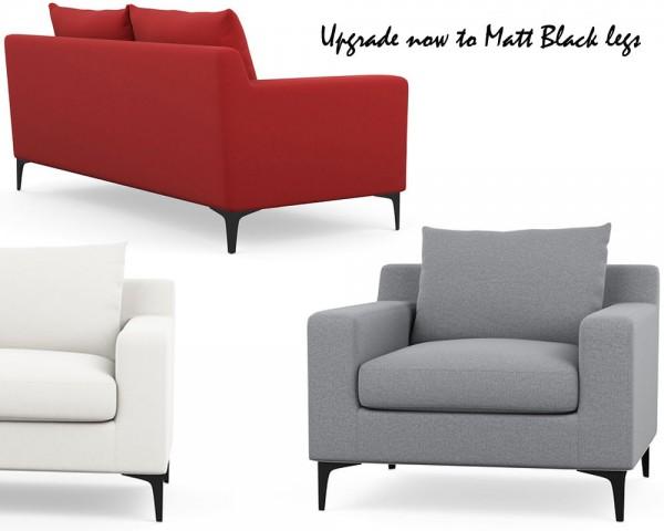 matt black designer legs